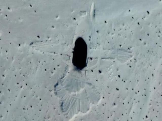 Lộ diện hình vẽ chim khổng lồ kỳ lạ giữa sa mạc Trung Quốc