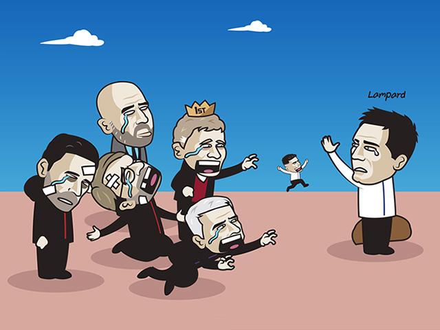 """Ảnh chế: Lampard bị sa thải, ngoại hạng Anh tiếc nuối """"kho điểm"""" Chelsea"""
