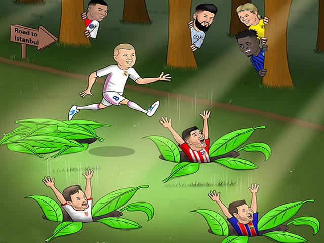 Ảnh chế: Real Madrid không làm La Liga thất vọng ở cúp C1