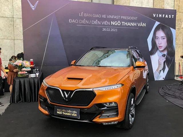 Đả nữ Ngô Thanh Vân tậu thêm xế khủng VinFast President