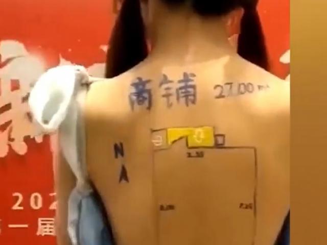 TQ: Vẽ sơ đồ nhà lên lưng trần của mẫu nữ để hút khách, công ty bất động sản gặp họa