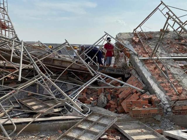 Thảm khốc: Sập công trình ở Đồng Nai, 10 người chết