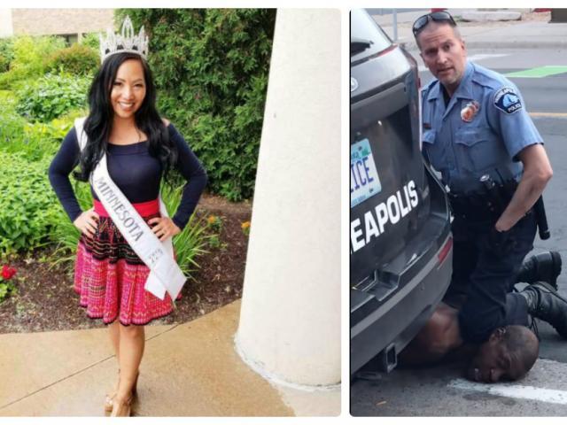 """Viên cảnh sát dùng đầu gối đè cổ chết người nhận thêm """"quả đắng"""" từ vợ là nữ hoàng sắc đẹp"""