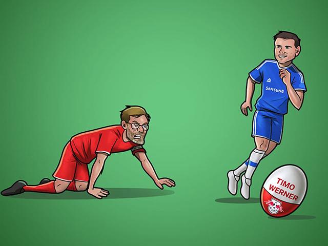 """Dân mạng chế ảnh Chelsea """"hạ đo ván"""" Liverpool trên thị trường chuyển nhượng"""