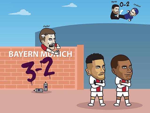 """Ảnh chế: Bayern Munich bị """"bắn hạ"""" trên sân nhà, fan PSG """"mở tiệc"""""""