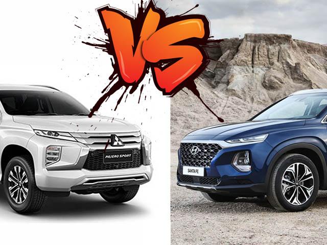 So sánh Mitsubishi Pajero Sport 4x2 và Hyundai SantaFe, kẻ tám lạng người nửa cân