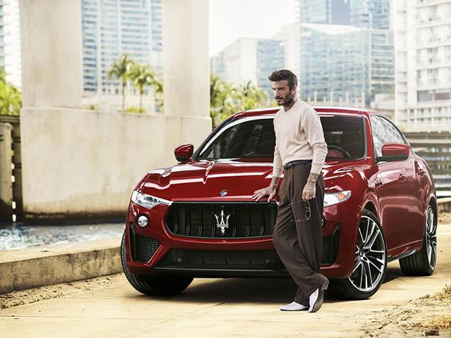David Beckham trở thành đại sứ thương hiệu xe Maserati