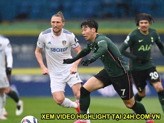 """Video Leeds United - Tottenham: Son Heung Min """"nổ súng"""", bữa tiệc 4 bàn mãn nhãn"""