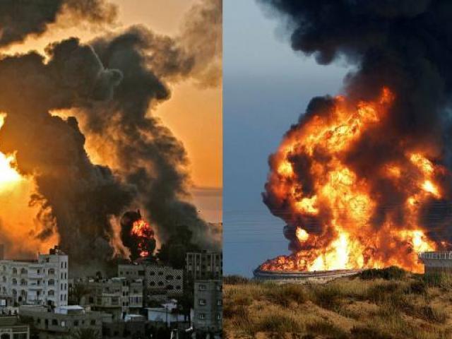 Israel hứng 3.000 quả rocket của Hamas, chiến đấu cơ dội bom dữ dội Gaza