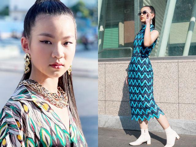 Mẫu nhí Trâm Anh – bản sao của Seo Je Yi thần thái tạo dáng trên phố
