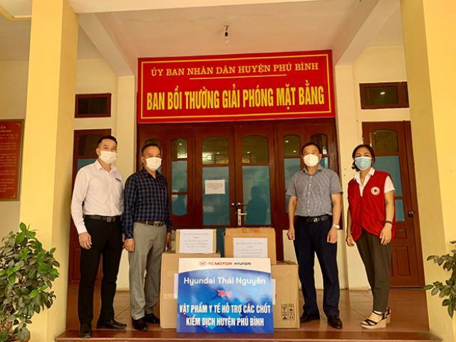 Hyundai Thái Nguyên hỗ trợ huyện Phú Bình phòng chống dịch Covid-19