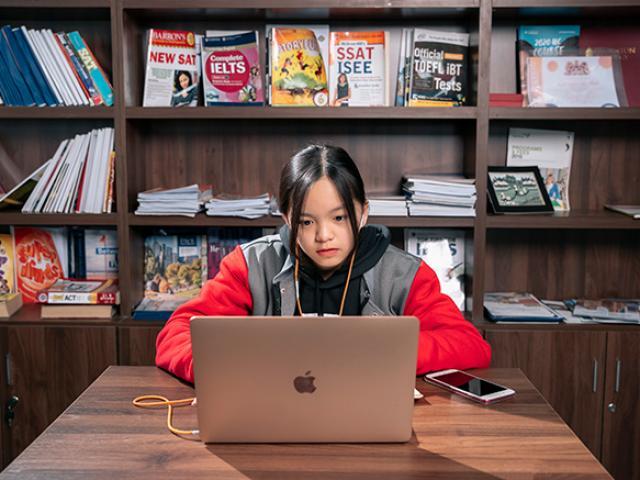 Học sinh Ivy Global School tại Việt Nam được kết nối hàng ngày với học sinh tại Mỹ nhờ công nghệ học trực tuyến