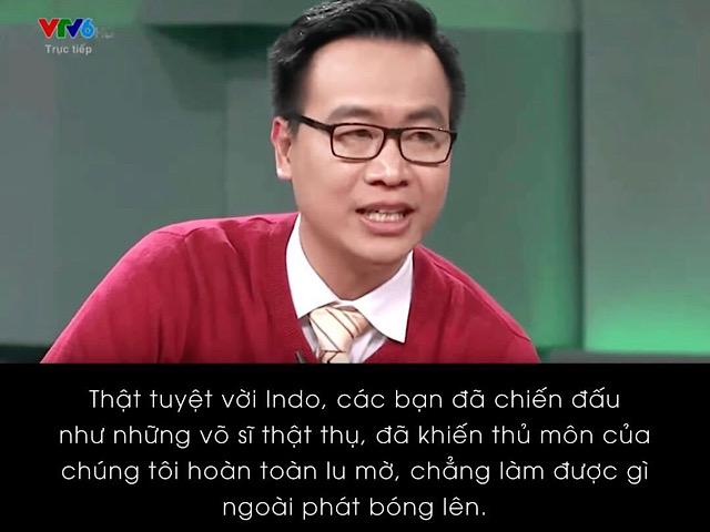 """Màn bình luận làm fan """"bò ra cười"""" của BLV Tạ Biên Cương và Khắc Cường trong trận Việt Nam - Indonesia"""