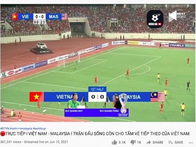 Lừa đảo phát trực tiếp trận Việt Nam - Malaysia vòng loại World Cup 2022