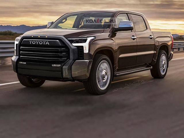 Xe bán tải Toyota Tundra thế hệ mới lộ bản phác thảo