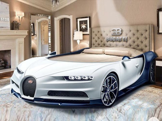 """Bugatti Chiron phiên bản """"giường ngủ"""" trông sẽ như thế này này"""