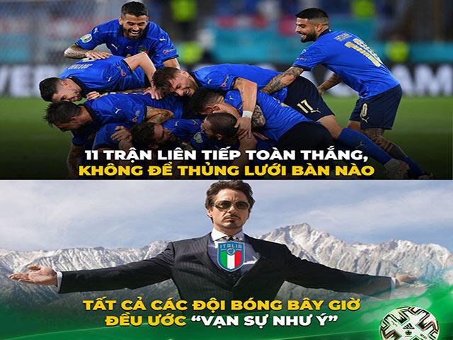 """Ảnh chế: ĐT Italia """"lạnh giá"""" giữa cơn nóng Euro 2021 khiến đối thủ run rẩy"""