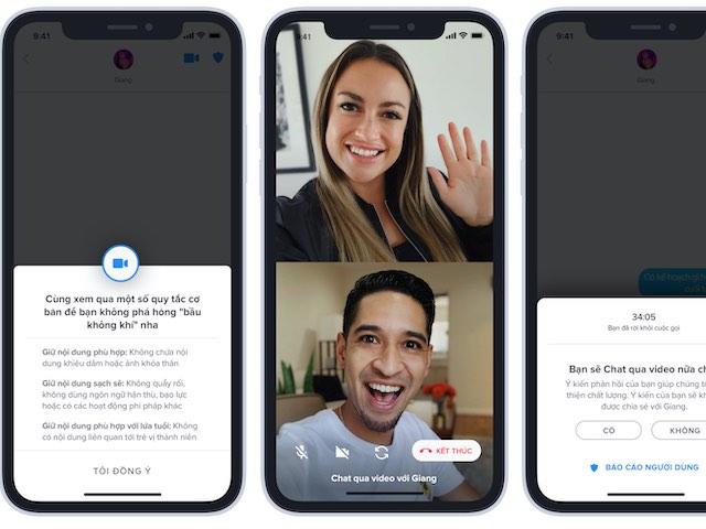 """Tinder tung tính năng """"Face to Face"""" cho các cặp đôi hẹn hò online"""