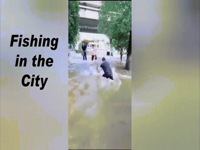 Video: Cảnh tượng ngập lụt tồi tệ ở Vũ Hán, người dân đổ ra đường bắt cá