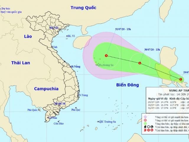 Ba kịch bản xấu nhất khi vùng áp thấp trên Biển Đông mạnh lên thành bão