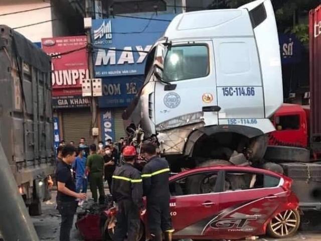 Vụ xe container chèn ô tô chờ đèn đỏ, 3 người chết: Kết quả kiểm tra ma túy, nồng độ cồn tài xế