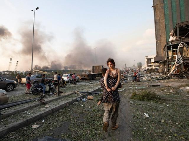 Hiện trường vụ nổ như bom nguyên tử khiến hàng nghìn người thương vong ở Liban