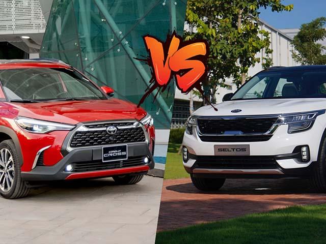 So sánh nhanh KIA Seltos bản Full và Toyota Corolla Cross bản tiêu chuẩn, chênh giá có gì hay