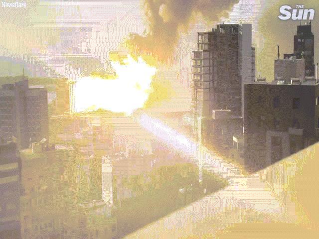 Góc quay gần và rõ nét nhất về vụ nổ như bom nguyên tử ở Liban