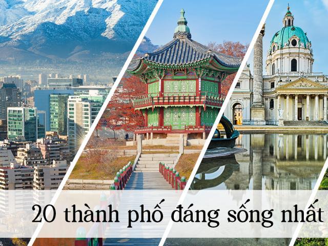 20 thành phố đáng sống nhất thế giới