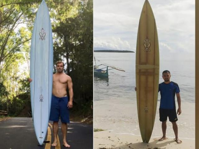 Làm mất ván lướt sóng ở Hawaii, không ngờ có người tìm thấy cách 8.000km