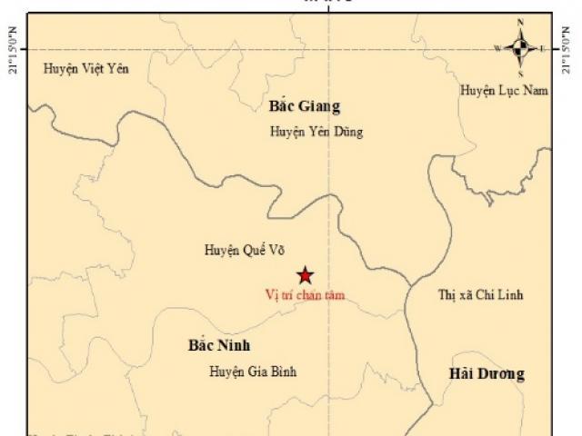 Động đất 3 độ richter xảy ra trong đêm gần Hà Nội, nhiều đồ đạc rung lắc
