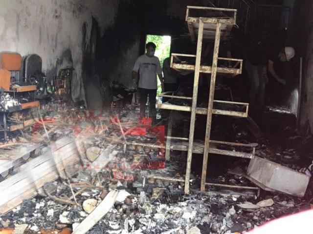 Hai vợ chồng tử vong trong căn nhà bốc cháy dữ dội lúc rạng sáng
