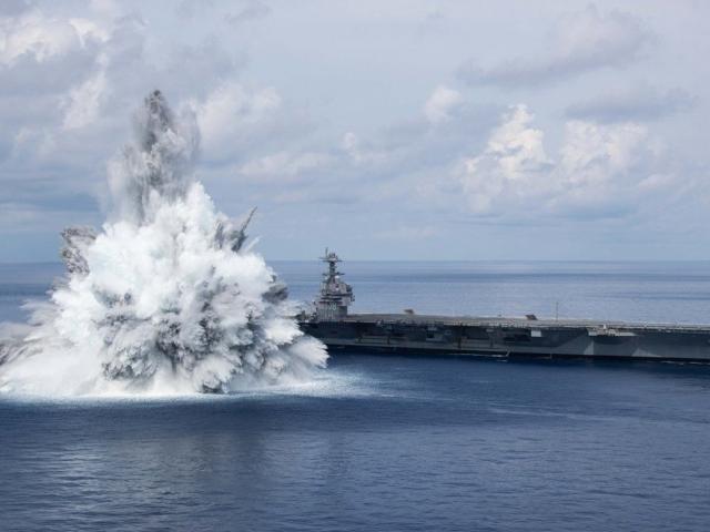 Siêu tàu sân bay Mỹ chống chịu 3 vụ nổ gây động đất: Không ngán tên lửa diệt hạm TQ?