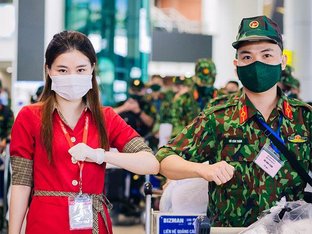 Vietjet phối hợp đưa hàng ngàn quân nhân vào TP.HCM hỗ trợ chống dịch