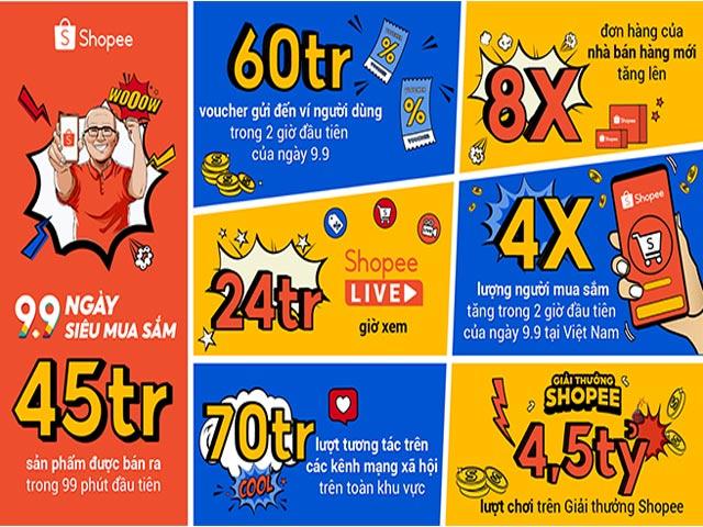 """Shopee """"9.9 Ngày Siêu Mua Sắm"""": Hơn 45 triệu sản phẩm được bán ra trong 99 phút đầu tiên"""