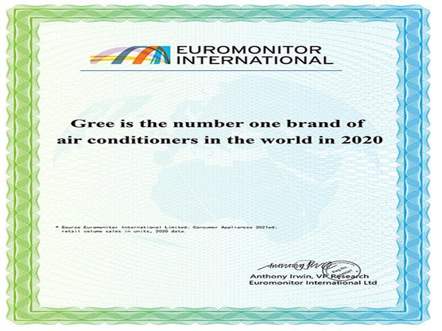 """Gree 6 năm liền đạt chứng nhận """"Thương hiệu điều hòa số 1 thế giới"""""""