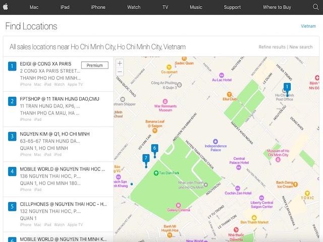 Cách tra cứu đại lý ủy quyền của Apple tại Việt Nam khi mua iPhone 13