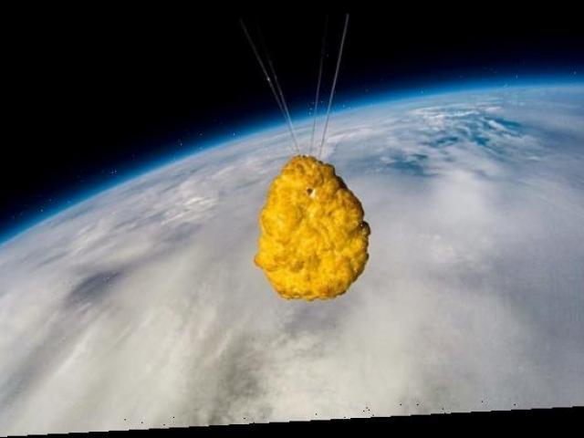 Miếng gà rán đầu tiên trên thế giới một mình bay vào vũ trụ