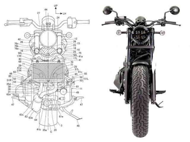 Honda Rebel lộ bằng sáng chế: Fan thích mê vì các trang bị mới