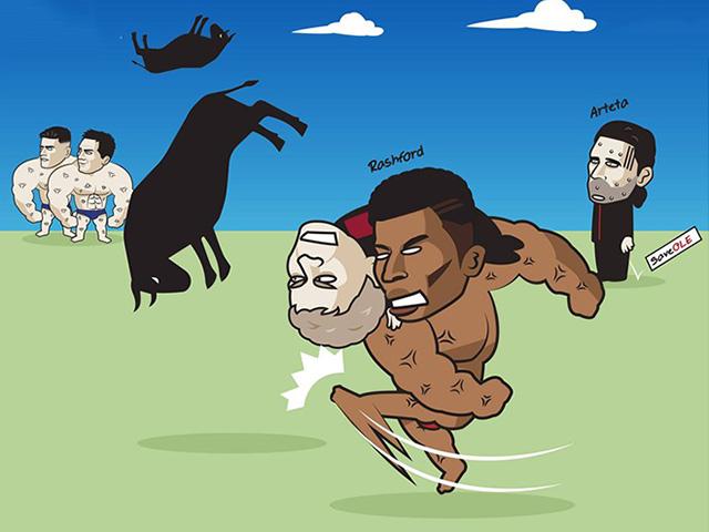 """Ảnh chế: MU vùi dập đối thủ ở cúp C1 khiến Arsenal """"run sợ"""""""