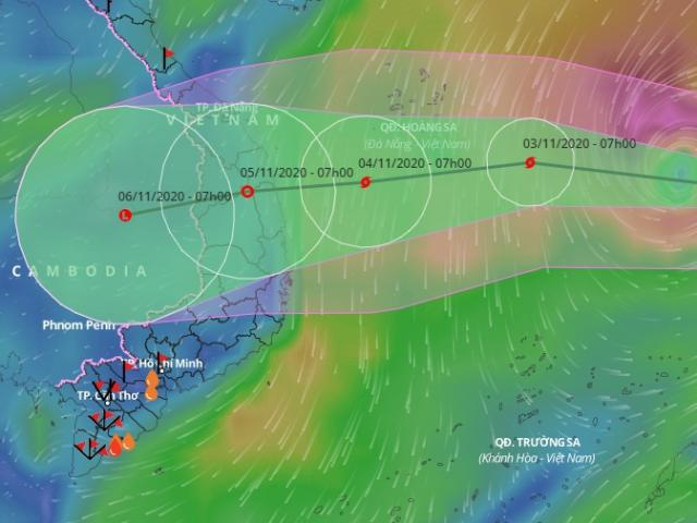 Diễn biến mới của bão số 10 Goni đang hướng vào Đà Nẵng đến Phú Yên