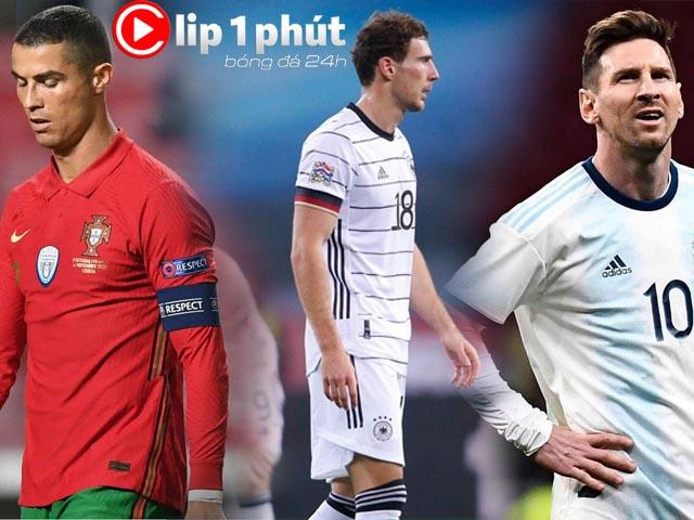 """Thê thảm ĐT Đức thua 0-6 chấn động bóng đá thế giới, Ronaldo - Messi """"tịt ngòi"""" (Clip 1 phút Bóng đá 24H)"""