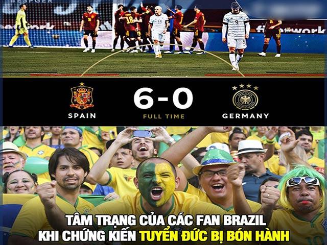 """Ảnh chế: Tây Ban Nha """"hủy diệt"""" ĐT Đức khiến fan Brazil hả hê"""