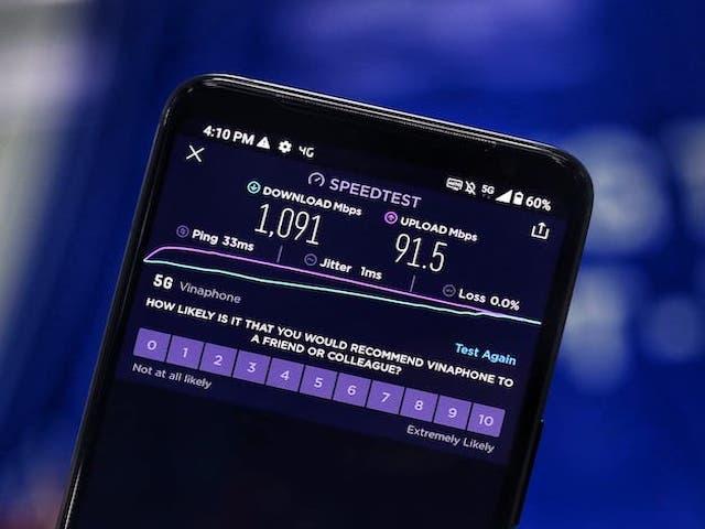 Mạng 5G thử nghiệm thương mại tại TP.HCM: Siêu tốc, tải file 3,19GB trong bao lâu?